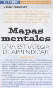 Mapas Mentales en El Tiempo Ago 30 2015